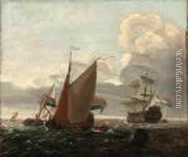 Ii, W Oil Painting - Willem van de, the Elder Velde