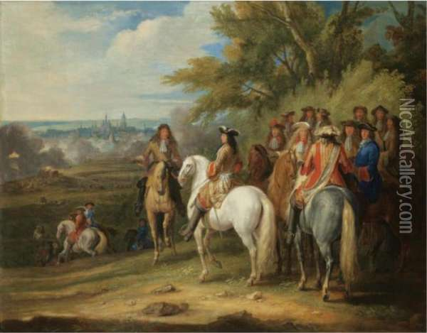 The Arrival Of Louis Xiv At The Taking Of Maastricht, 30 June 1673 Oil Painting - Adam Frans van der Meulen