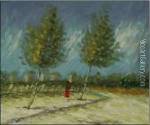 On The Outskirts Of Paris Oil Painting - Vincent Van Gogh