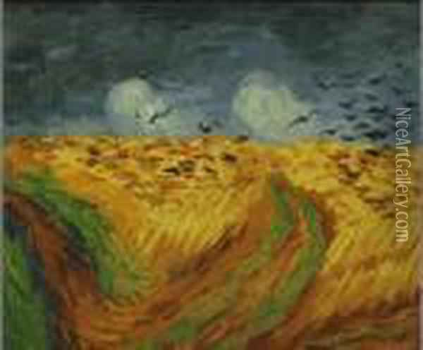 Wheat Field With Crows Oil Painting - Vincent Van Gogh