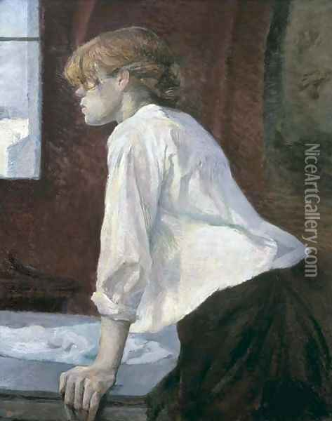 La blanchisseuse Oil Painting - Henri De Toulouse-Lautrec