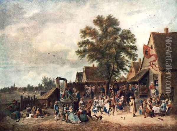 The Village Feast 1646 Oil Painting - David The Younger Teniers