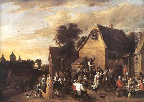 Flemish Kermess 1652 Oil Painting - David The Younger Teniers