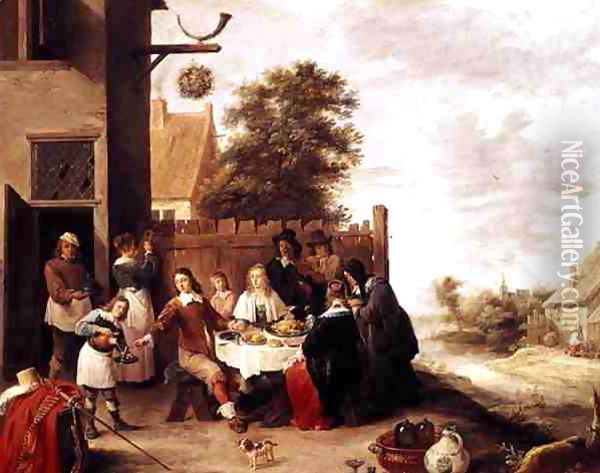 The Feast of the Prodigal Son, 1644 Oil Painting - David The Younger Teniers