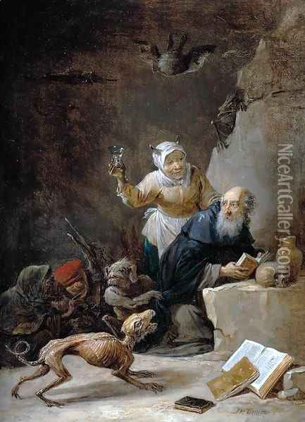 The Temptation of St Anthony (3) Oil Painting - David The Younger Teniers