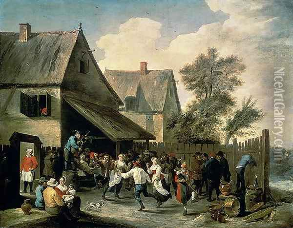 A Country Dance Oil Painting - David The Younger Teniers
