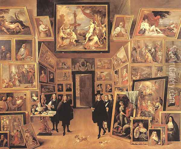 Archduke Leopold Wilhelm in his Gallery Oil Painting - David The Younger Teniers