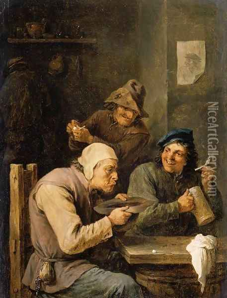 The Hustle-Cap Oil Painting - David The Younger Teniers