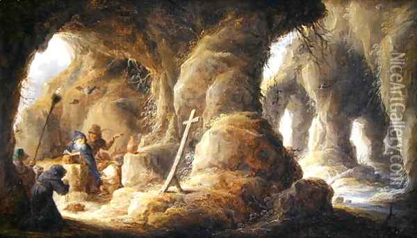 The Temptation of St. Anthony 2 Oil Painting - David The Younger Teniers
