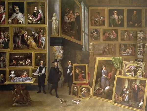 The Picture Gallery of Archduke Leopold Wilhelm 1614-61 Oil Painting - David The Younger Teniers