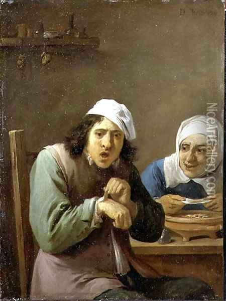 The Five Senses Series- Feeling Oil Painting - David The Younger Teniers