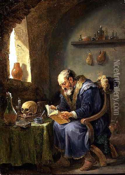 The Alchemist 3 Oil Painting - David The Younger Teniers