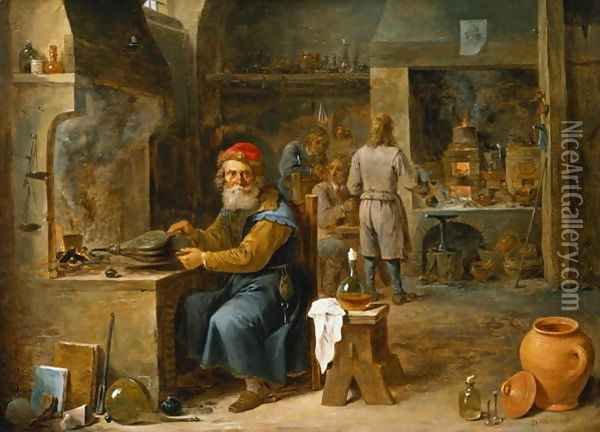 The Alchemist 4 Oil Painting - David The Younger Teniers