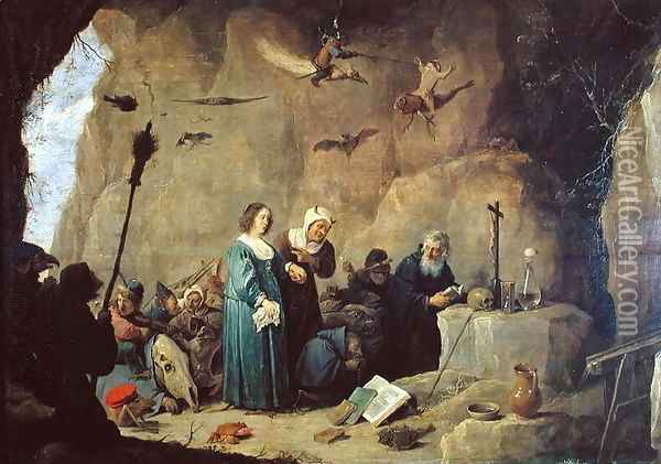 The Temptation of St. Anthony, 1820 Oil Painting - David The Younger Teniers