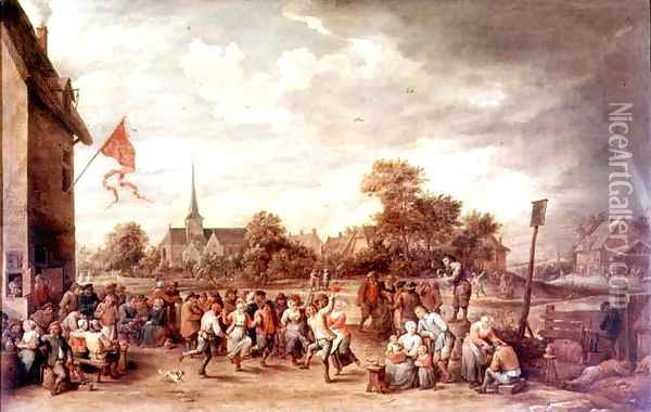 The Kermesse Oil Painting - David The Younger Teniers