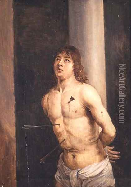 Saint Sebastian, 1651-56 Oil Painting - David The Younger Teniers