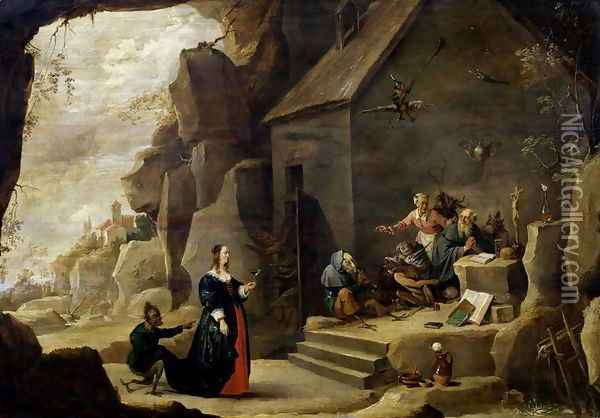 The Temptation of St. Anthony 5 Oil Painting - David The Younger Teniers