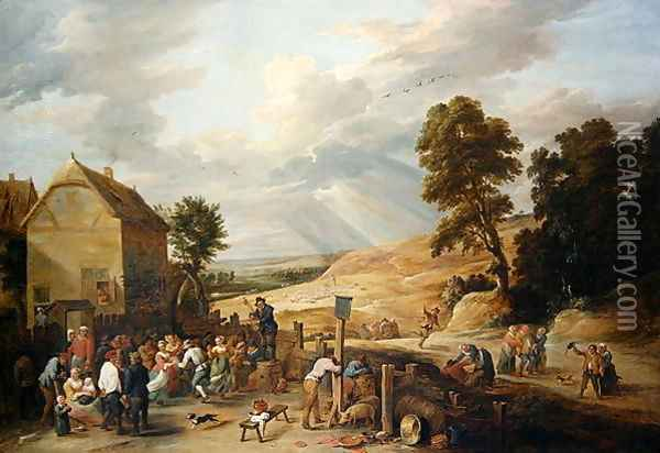 Country Dance before an Inn Oil Painting - David The Younger Teniers