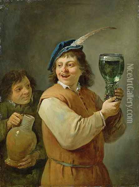 The Five Senses Series- Taste Oil Painting - David The Younger Teniers