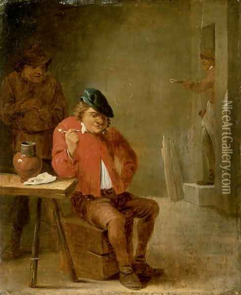 The Smoker Oil Painting - David The Younger Teniers