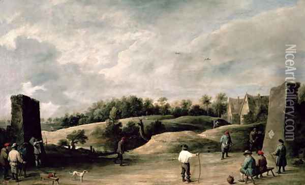 The Archery Contest 2 Oil Painting - David The Younger Teniers