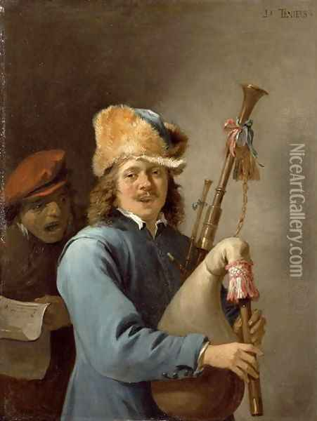 The Five Senses Series- Hearing Oil Painting - David The Younger Teniers