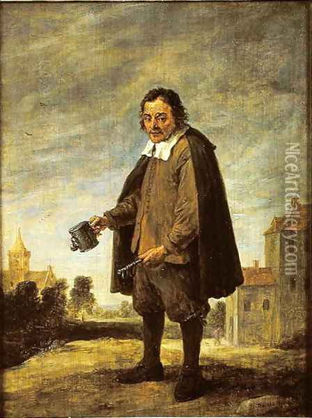 The Collector, 1671 Oil Painting - David The Younger Teniers