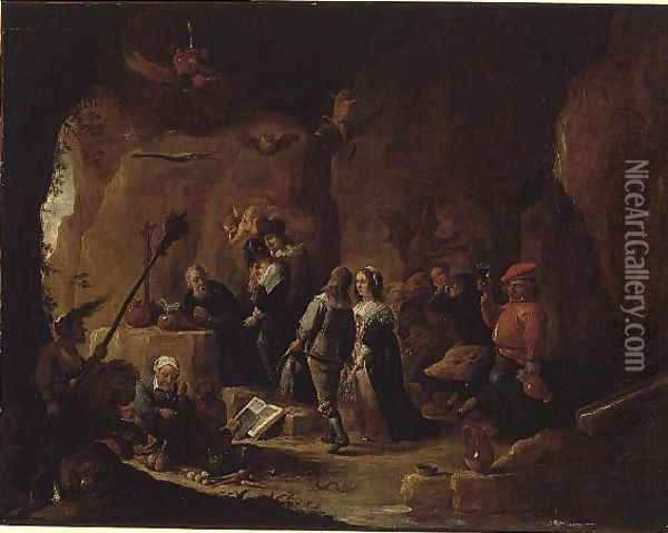 The Temptation of St. Anthony 3 Oil Painting - David The Younger Teniers