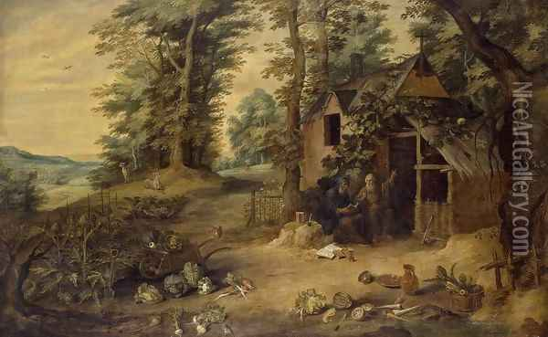 Landscape Oil Painting - David The Younger Teniers