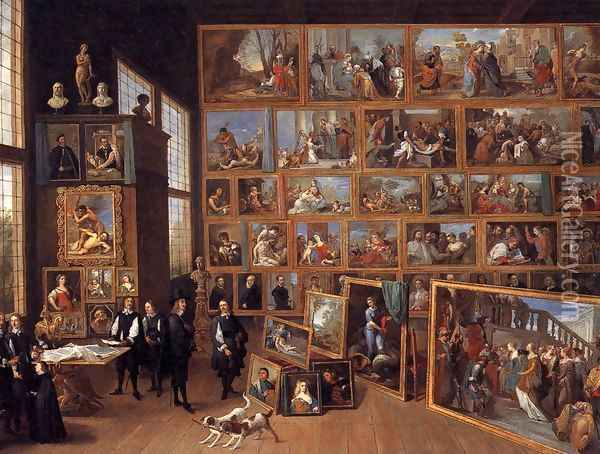 The Art Collection of Archduke Leopold Wilhelm in Brussels 1651 Oil Painting - David The Younger Teniers