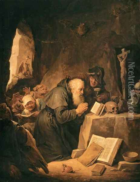 The Temptation of St Anthony Oil Painting - David The Younger Teniers