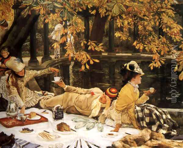 Holyday (or The Picnic) Oil Painting - James Jacques Joseph Tissot