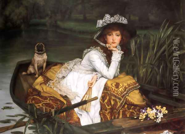 Young Lady In A Boat Oil Painting - James Jacques Joseph Tissot