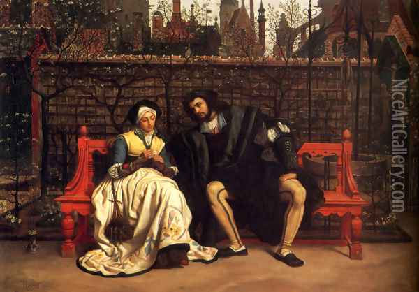 Faust And Marguerite In The Garden Oil Painting - James Jacques Joseph Tissot