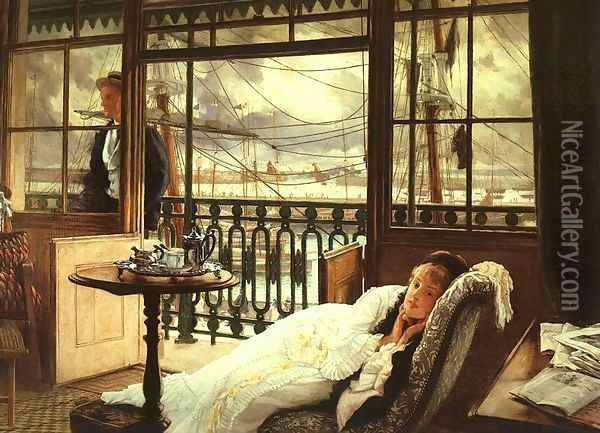 A Passing Storm Oil Painting - James Jacques Joseph Tissot
