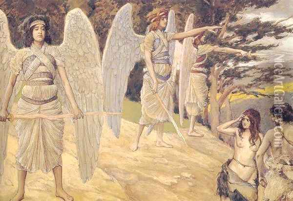 Adam and Eve Driven from Paradise Oil Painting - James Jacques Joseph Tissot