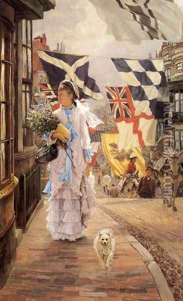 A Fete Day At Brighton Oil Painting - James Jacques Joseph Tissot