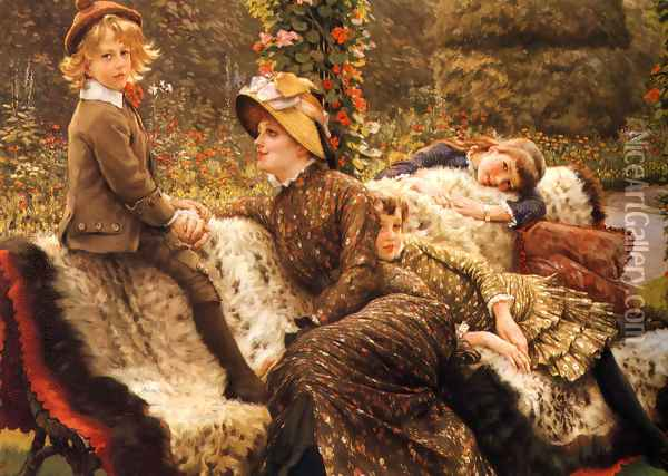The Garden Bench Oil Painting - James Jacques Joseph Tissot