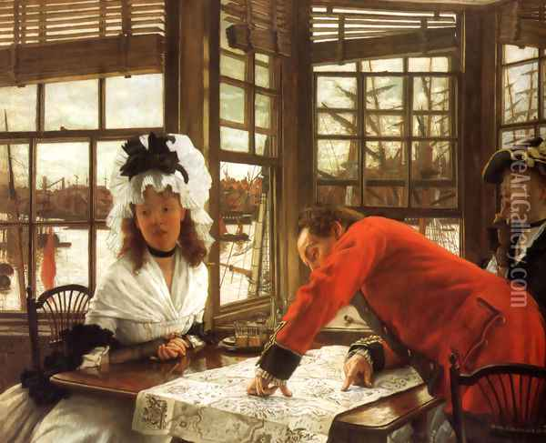 An Interesting Story Oil Painting - James Jacques Joseph Tissot