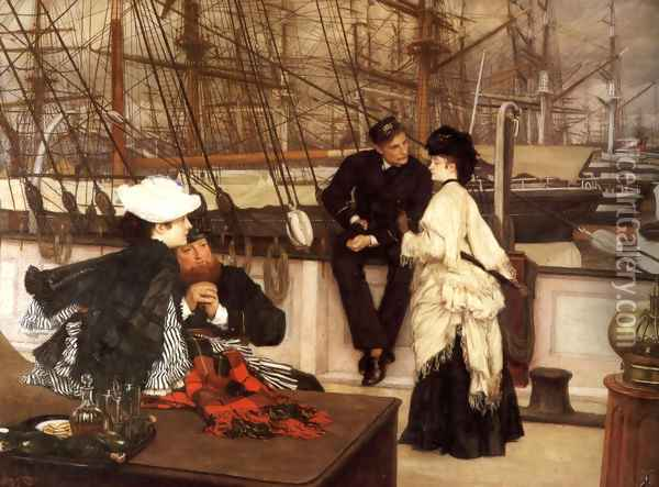 The Captain And The Mate Oil Painting - James Jacques Joseph Tissot