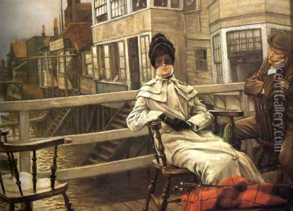 Waiting For The Ferry 2 Oil Painting - James Jacques Joseph Tissot