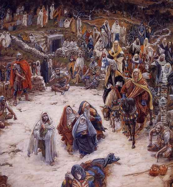 What Our Saviour Saw from the Cross (or Christ Consoling the Wanderers) Oil Painting - James Jacques Joseph Tissot