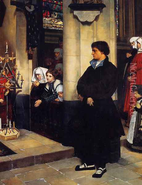 During the Service (or Martin Luther's Doubts) Oil Painting - James Jacques Joseph Tissot