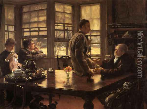 The Prodigal Son in Modern Life: The Departure Oil Painting - James Jacques Joseph Tissot