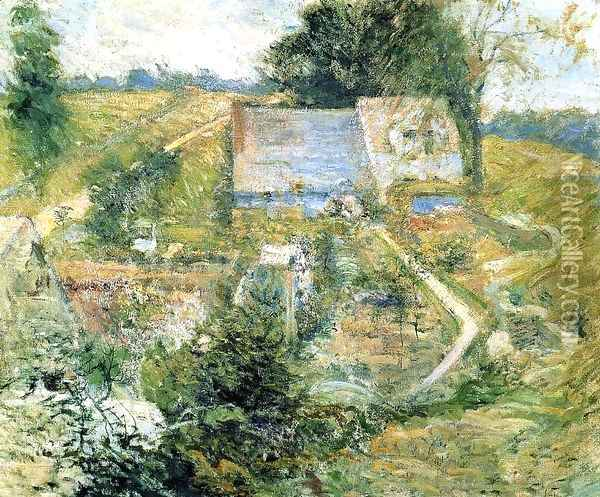 From The Upper Terrace Oil Painting - John Henry Twachtman