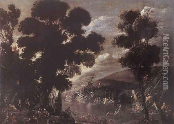 The Coral Fishers c. 1622 Oil Painting - Agostino Tassi