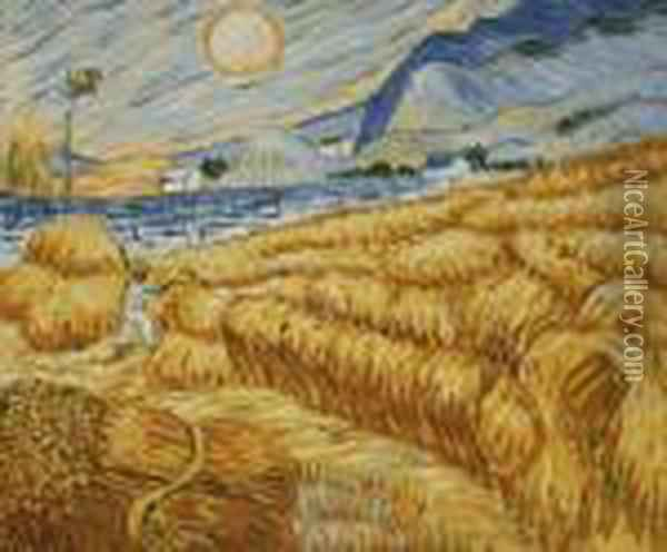 Enclosed Field With Reaper At Sunrise Oil Painting - Vincent Van Gogh
