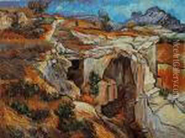 Entrance To A Quarry Near St. Remy Oil Painting - Vincent Van Gogh
