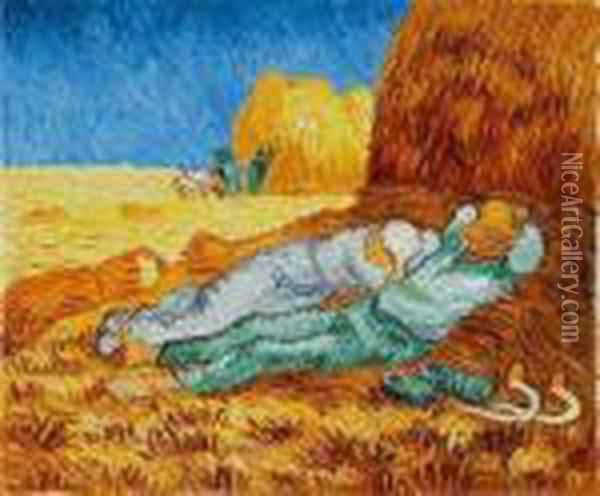 Noon: Rest From Work Oil Painting - Vincent Van Gogh