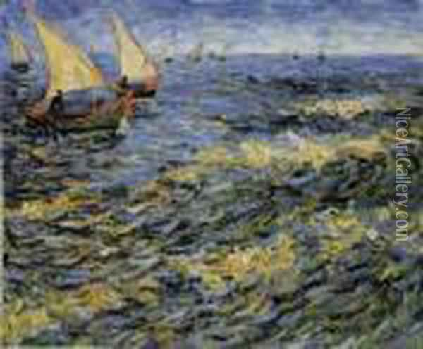Seascape At Saintes-maries-de-la-mer Oil Painting - Vincent Van Gogh